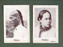 OLD Cigarette cards tobacco inserts Chinese people RARE #343